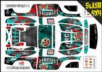 Circus Of Destruction Clown themed vinyl SKIN Kit To Fit Traxxas Slash 4x4 Short Course Truck